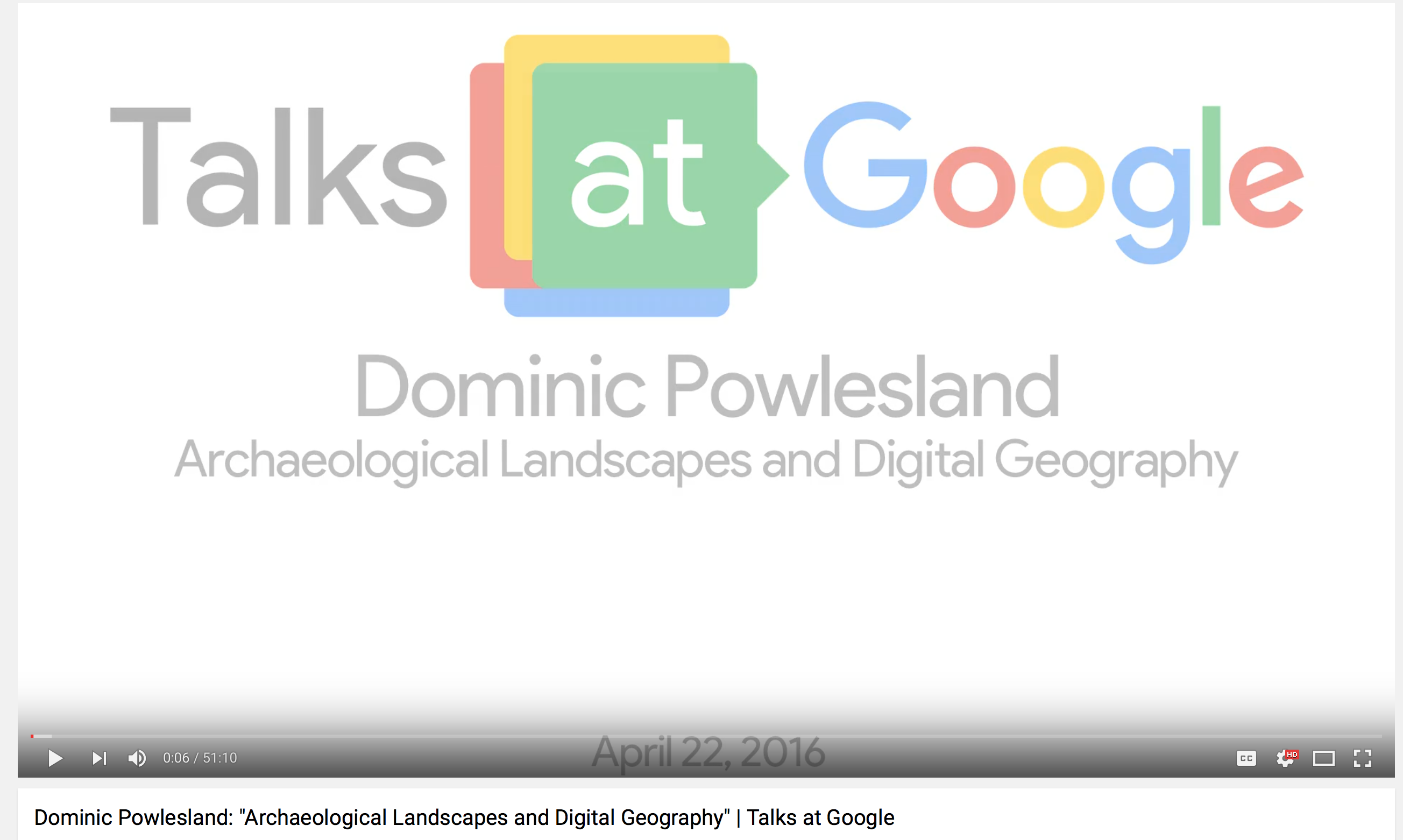 Archaeological Landscapes and Digital Geography